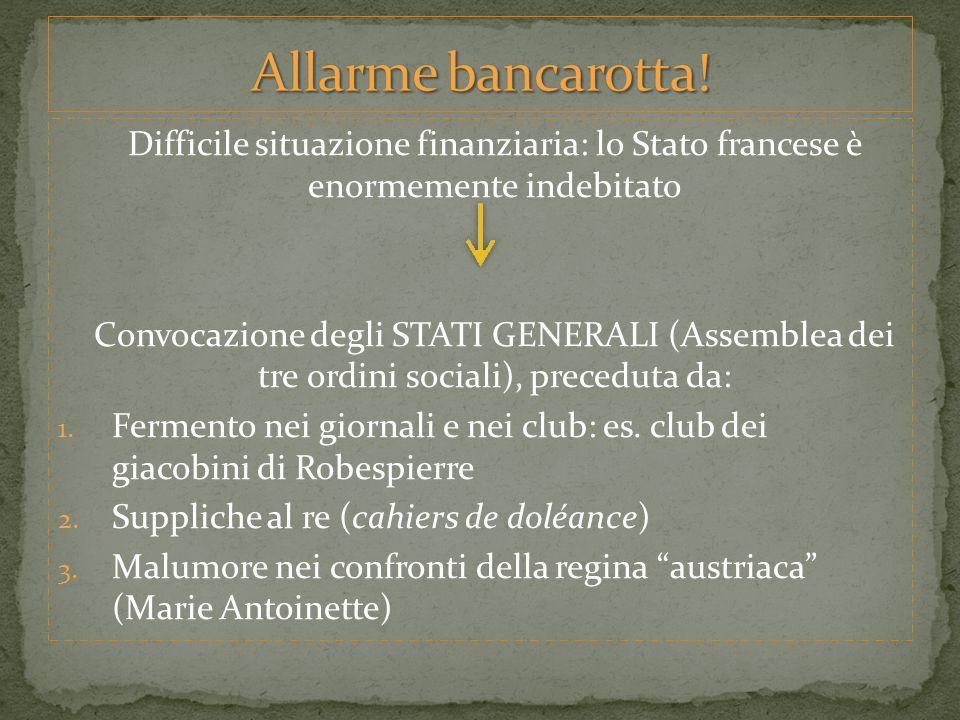 Emersero le prime spaccature nel Terzo stato, in particolar modo, allinterno nel club dei Giacobini Ci fu una divisione allinterno dellAssemblea: 1.