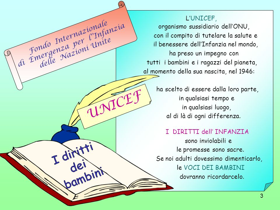 4 Questa è la traduzione di un opuscolo pubblicato in Inghilterra dall UNICEF.