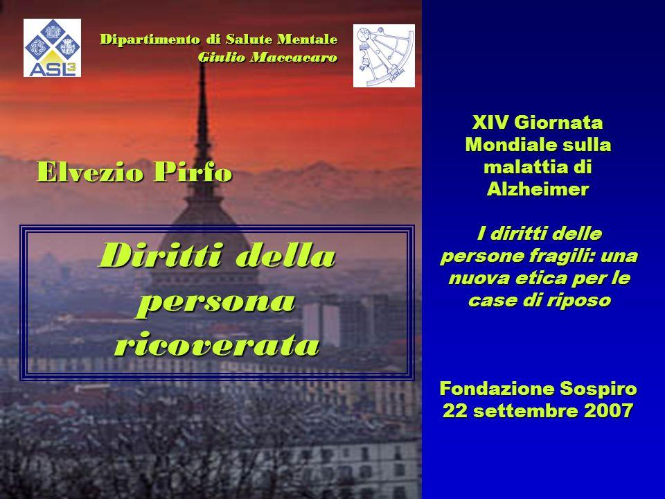 La Costituzione Italiana sancisce linviolabilità della libertà personale e riconosce il principio di autodeterminazione dellindividuo.