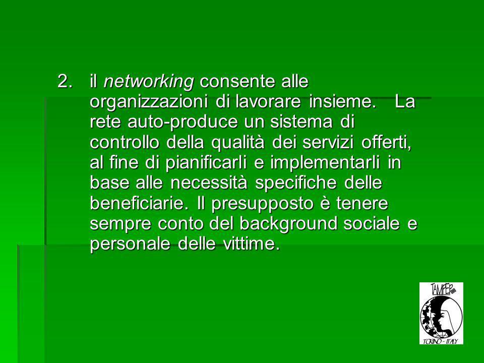 2.il networking consente alle organizzazioni di lavorare insieme.
