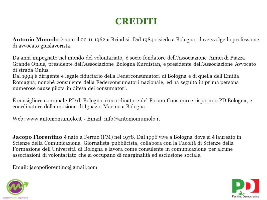 CREDITI Antonio Mumolo è nato il 22.11.1962 a Brindisi.