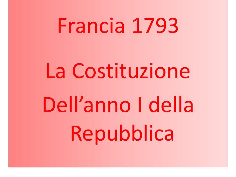 Francia 1793 La Costituzione Dellanno I della Repubblica