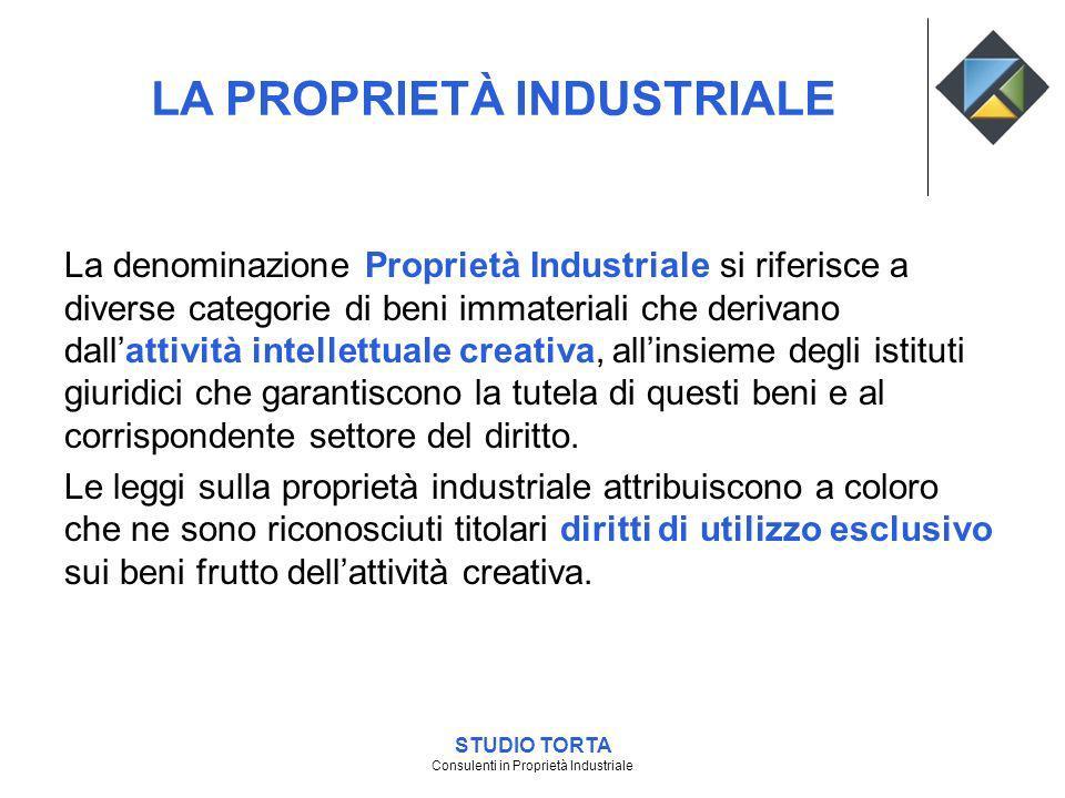 La denominazione Proprietà Industriale si riferisce a diverse categorie di beni immateriali che derivano dallattività intellettuale creativa, allinsie