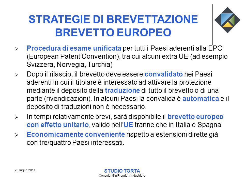 Procedura di esame unificata per tutti i Paesi aderenti alla EPC (European Patent Convention), tra cui alcuni extra UE (ad esempio Svizzera, Norvegia,