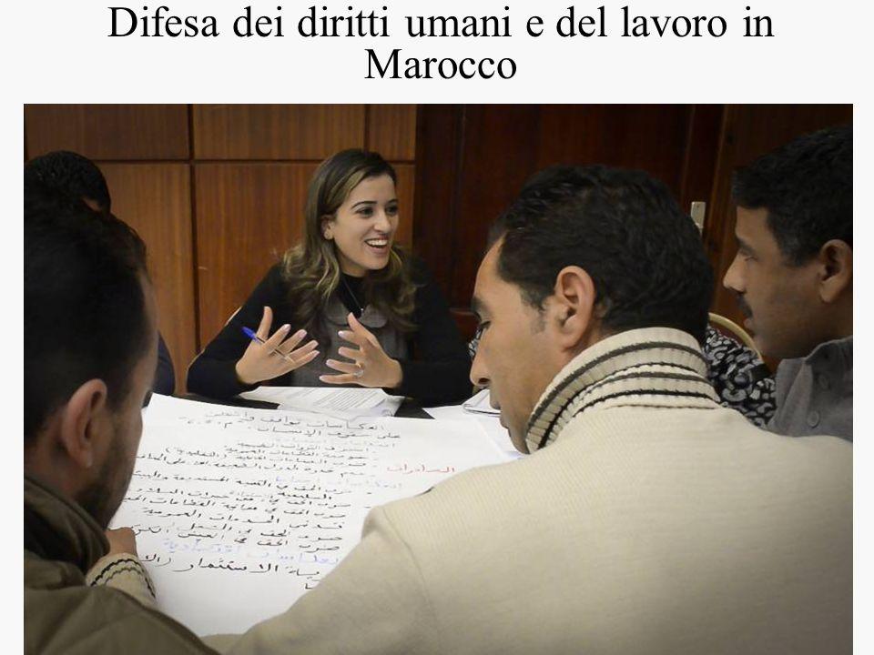 Difesa dei diritti umani e del lavoro in Marocco
