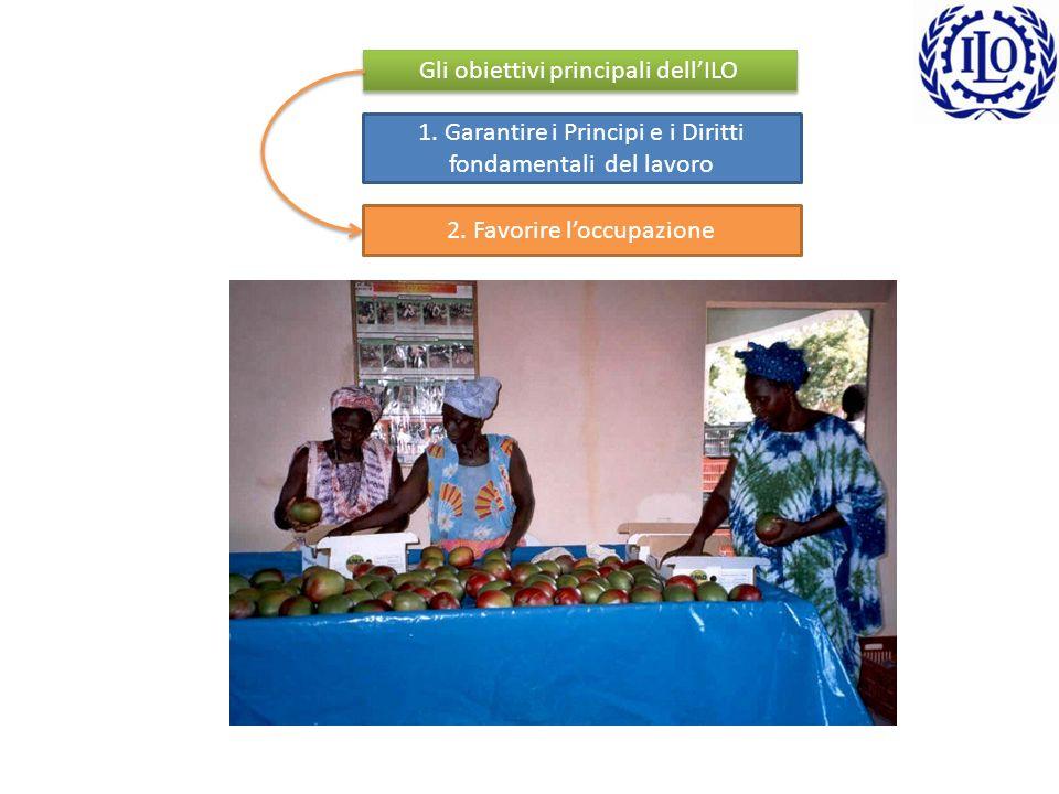 1. Garantire i Principi e i Diritti fondamentali del lavoro Eliminare il lavoro forzato Eliminare le discriminazioni Eliminare il lavoro minorile Gara