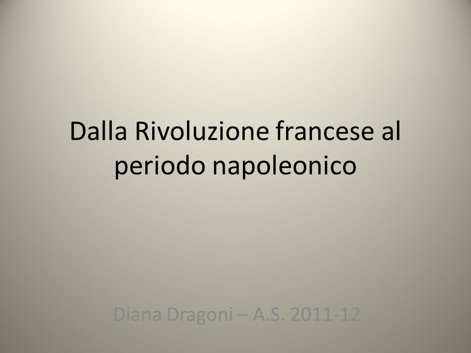 Dalla Rivoluzione francese al periodo napoleonico Diana Dragoni – A.S. 2011-12