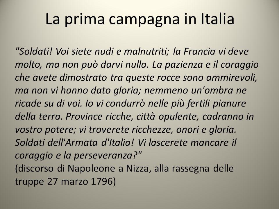 La prima campagna in Italia