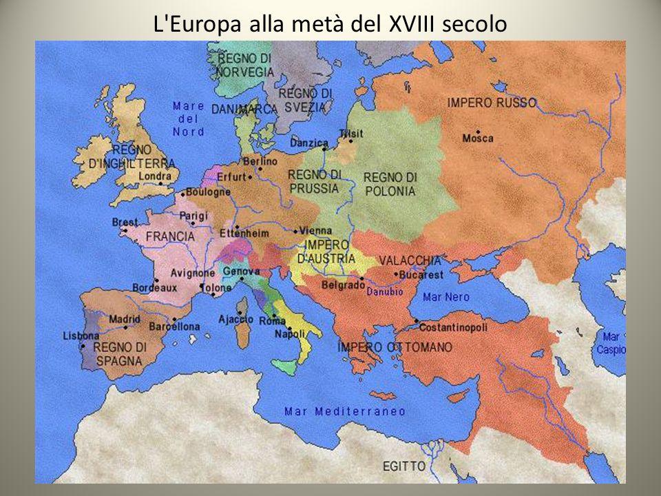 L'Europa alla metà del XVIII secolo