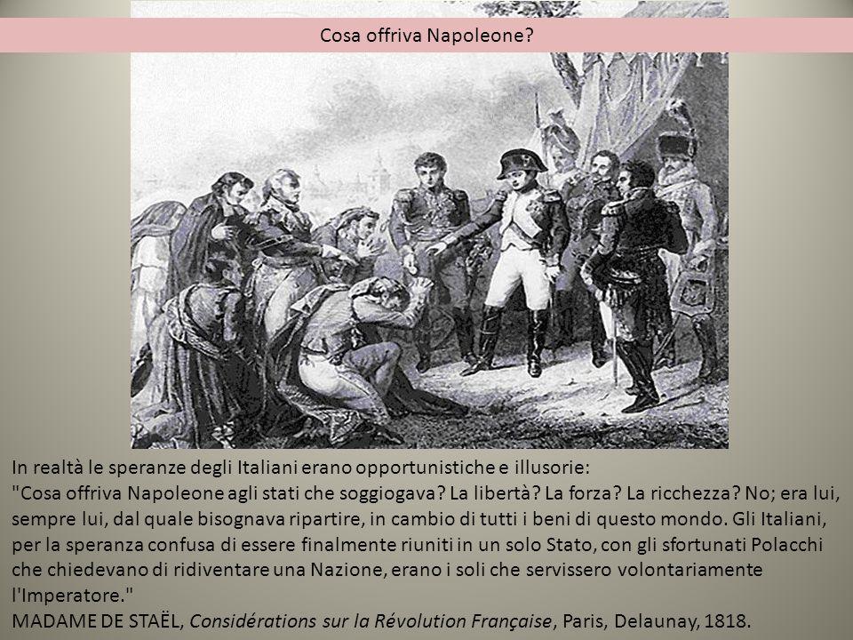 In realtà le speranze degli Italiani erano opportunistiche e illusorie: