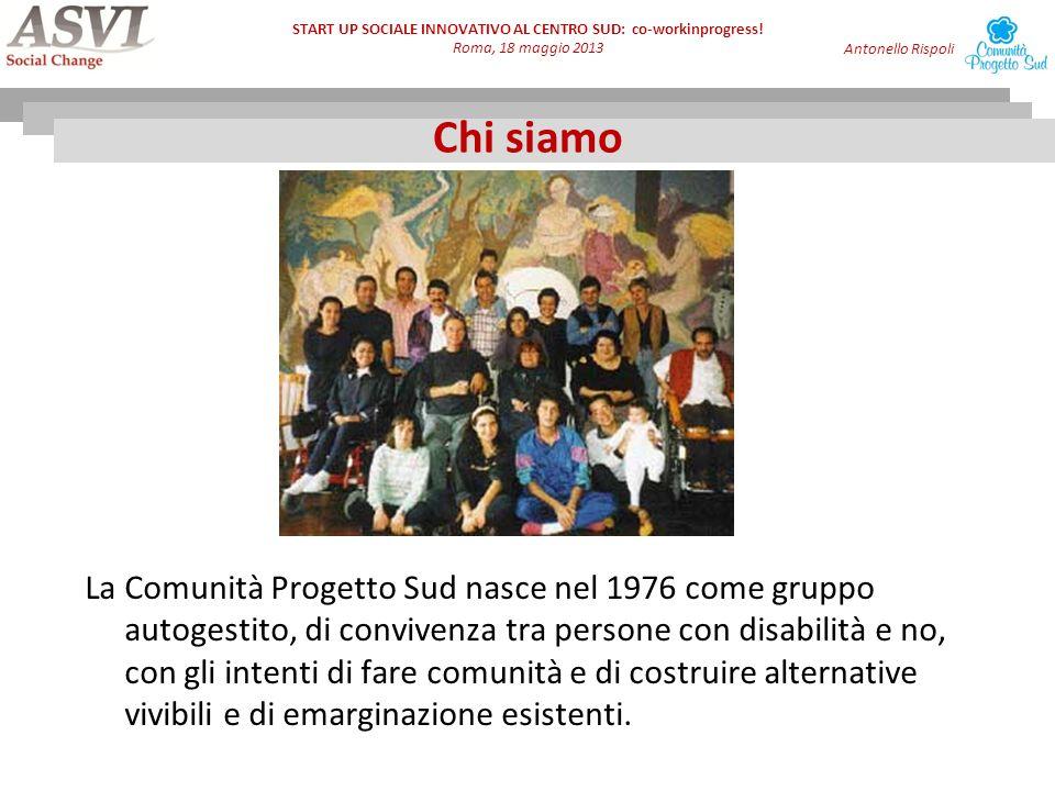 START UP SOCIALE INNOVATIVO AL CENTRO SUD: co-workinprogress.