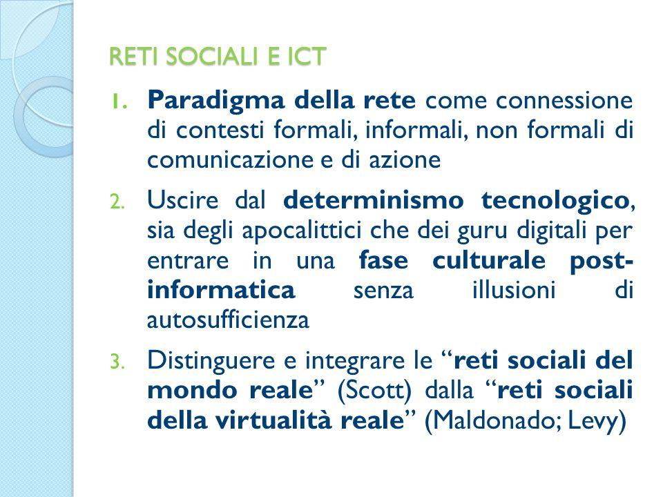 RETI SOCIALI E ICT 1.