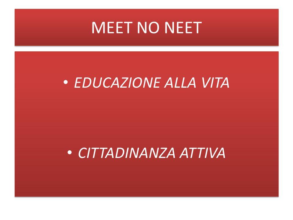 MEET NO NEET EDUCAZIONE ALLA VITA CITTADINANZA ATTIVA EDUCAZIONE ALLA VITA CITTADINANZA ATTIVA