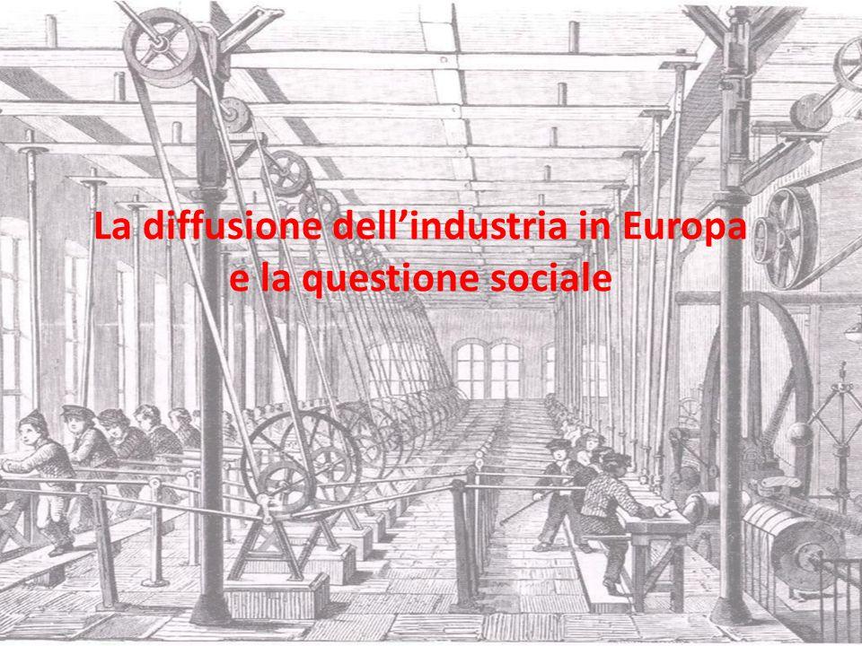 La diffusione dellindustria in Europa e la questione sociale