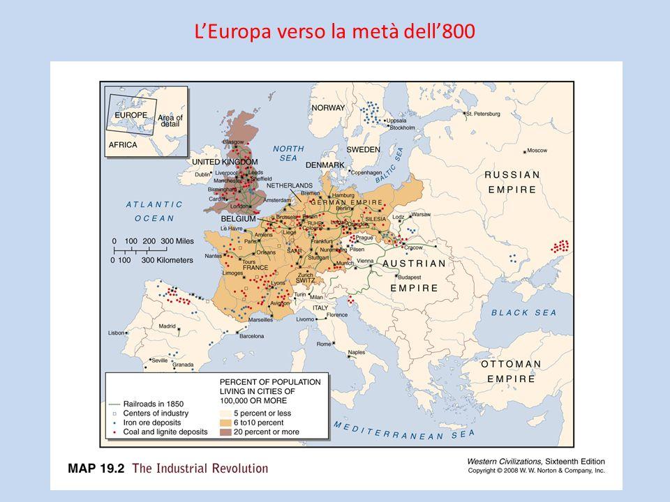 LEuropa verso la metà dell800