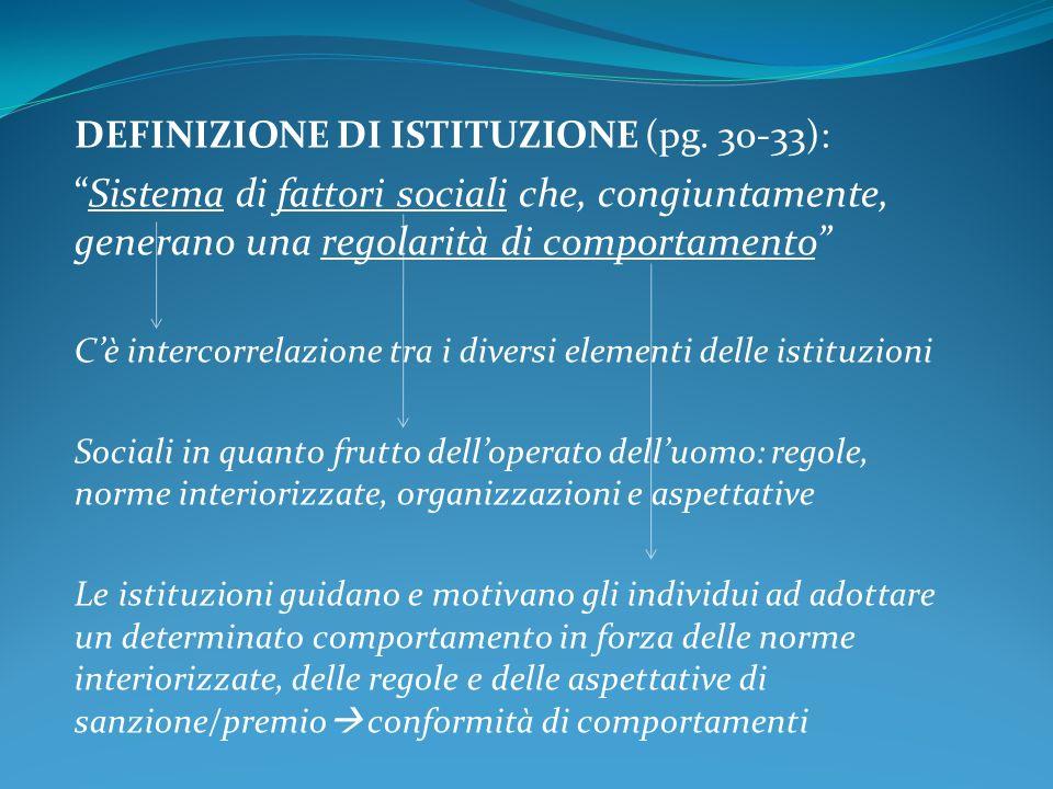 DEFINIZIONE DI ISTITUZIONE (pg.