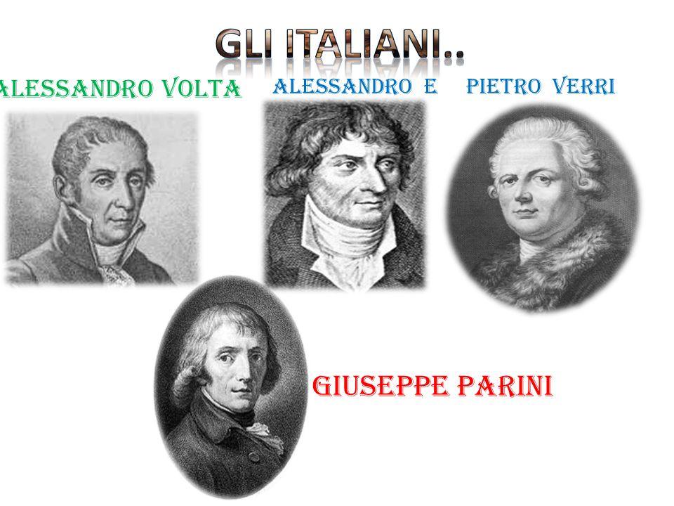 Alessandro Volta Alessandro e pietro Verri GIUSEPPE PARINI