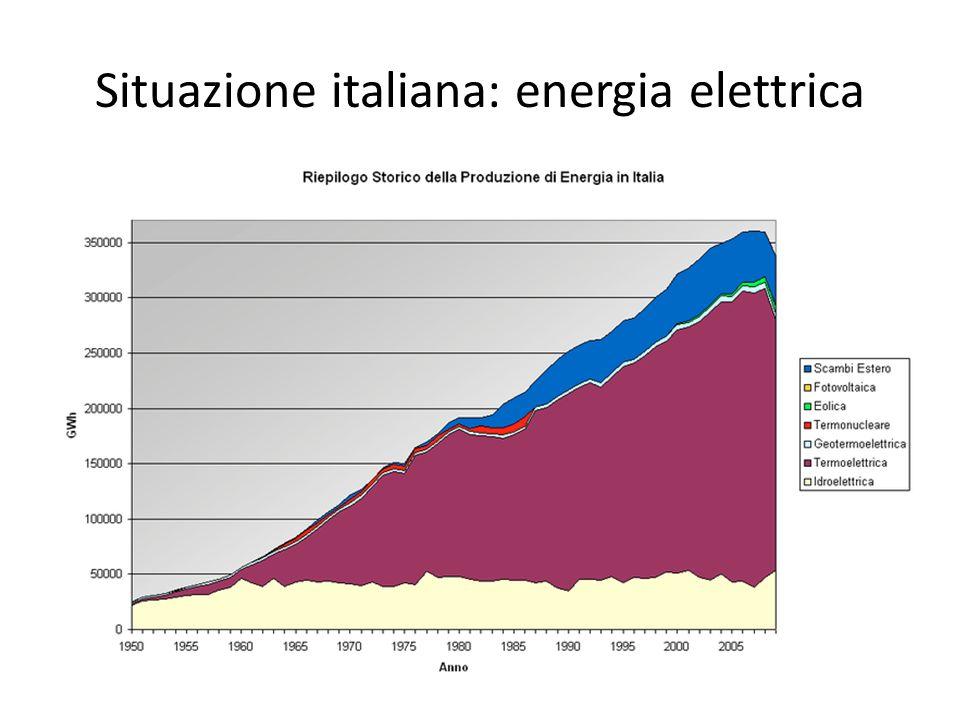 Situazione italiana: energia elettrica