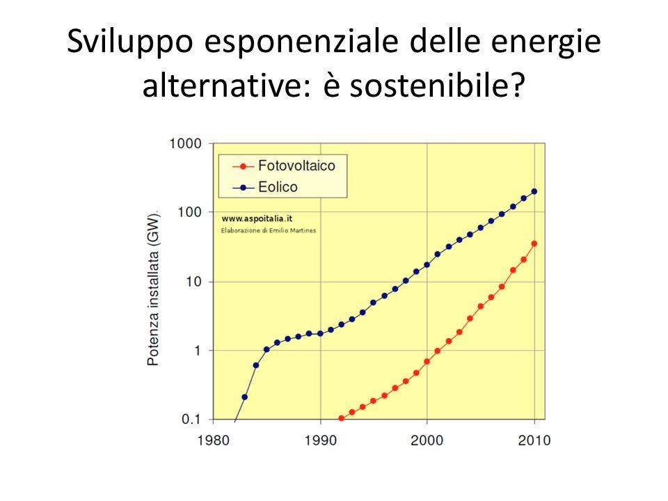 Sviluppo esponenziale delle energie alternative: è sostenibile?