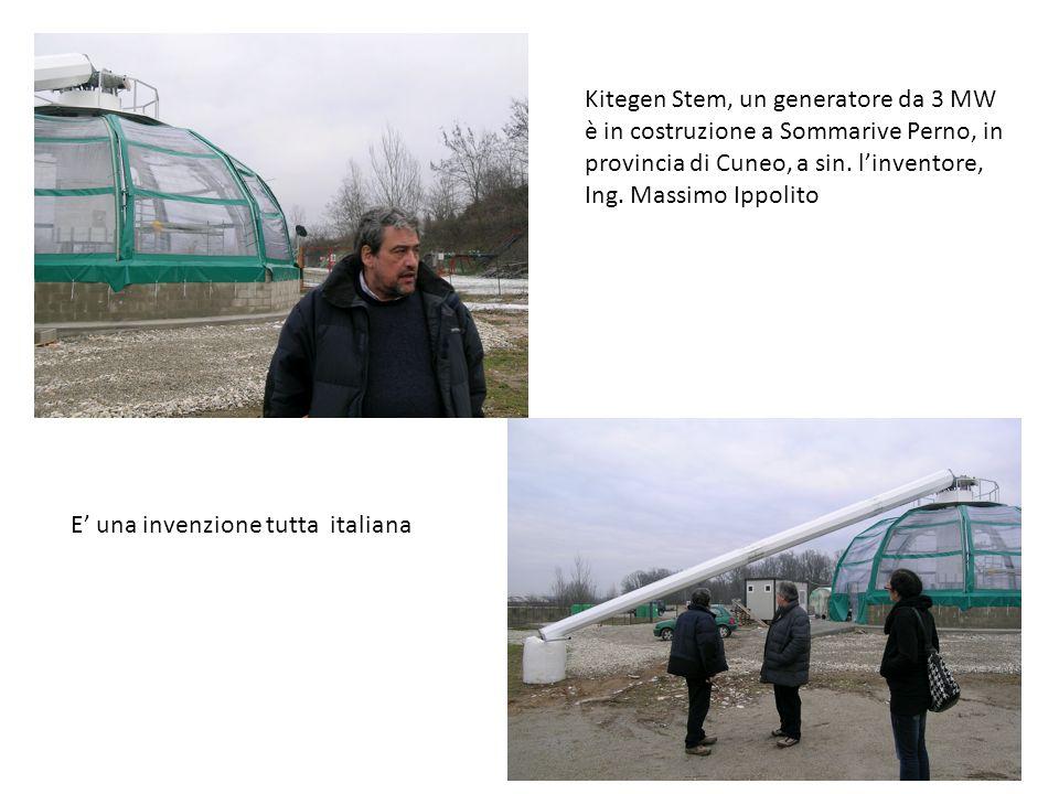 Kitegen Stem, un generatore da 3 MW è in costruzione a Sommarive Perno, in provincia di Cuneo, a sin. linventore, Ing. Massimo Ippolito E una invenzio