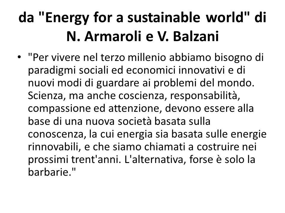 da Energy for a sustainable world di N.Armaroli e V.