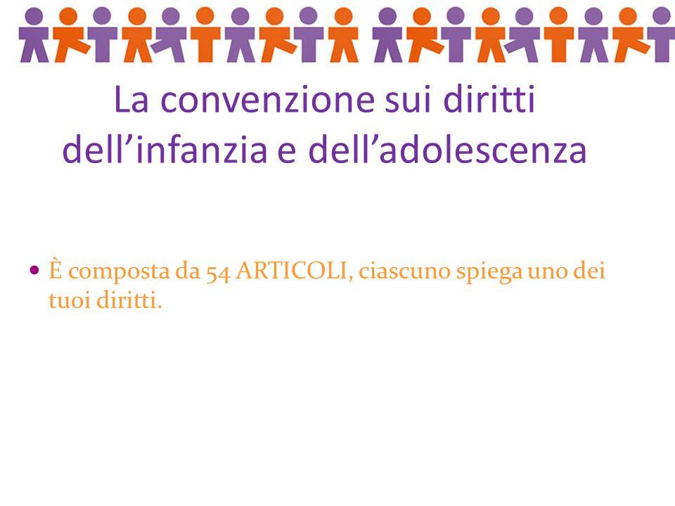 Bibliografia: I Diritti dei bambini in parole semplici, pubblicazioni UNICEF Sitografia: www.unicef.it Si ringrazia Giacomo per la fattiva collaborazione.