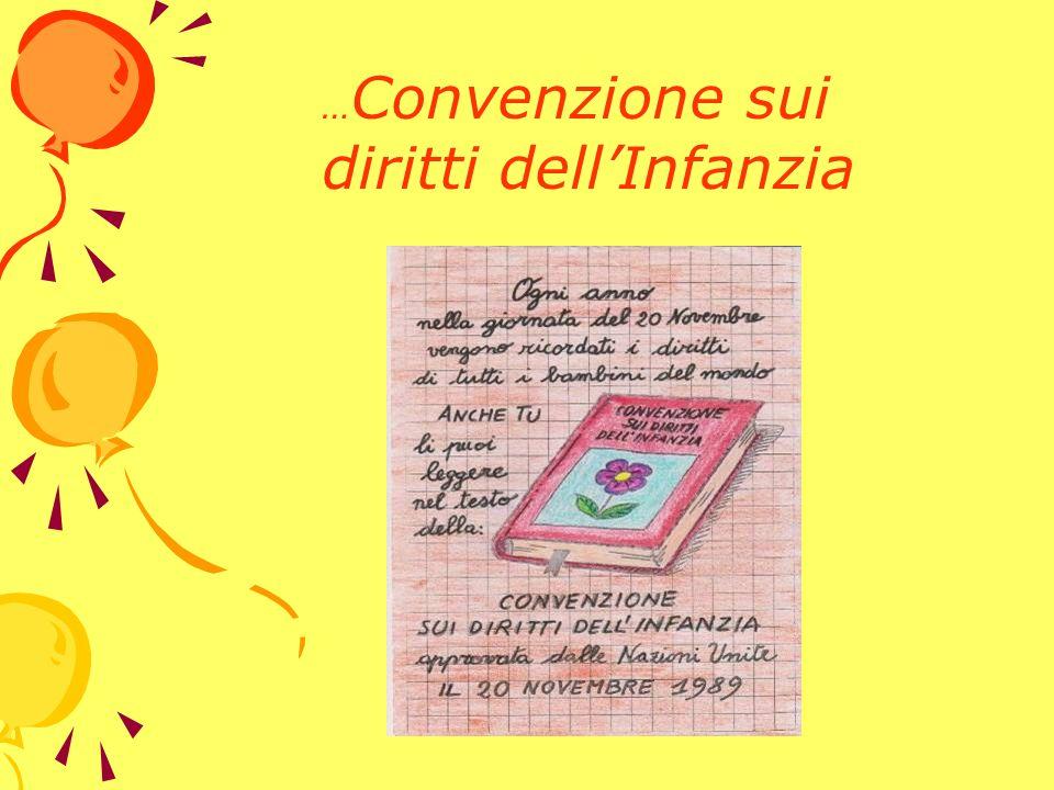 … Convenzione sui diritti dellInfanzia