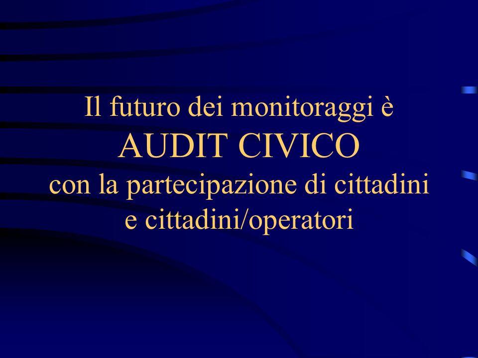 Il futuro dei monitoraggi è AUDIT CIVICO con la partecipazione di cittadini e cittadini/operatori