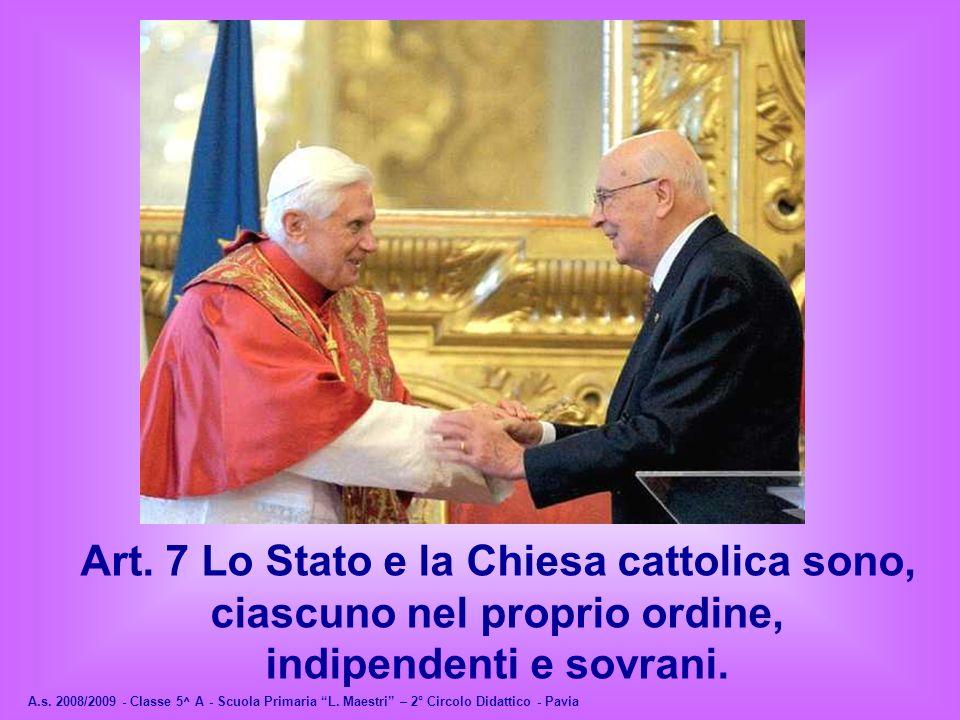 Art. 8 Tutte le confessioni religiose sono ugualmente libere davanti alla legge.
