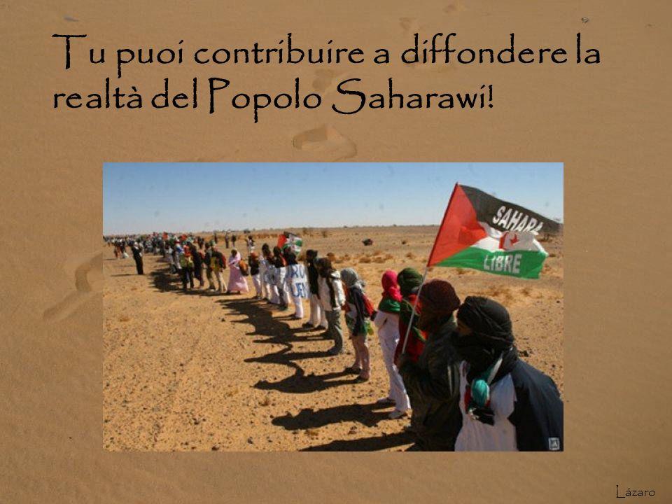COSA PUÒ PRODURRE UN CAMBIAMENTO? La pressione internazionale può cambiare il destino del popolo saharawi. Informare la popolazione è ora la missione