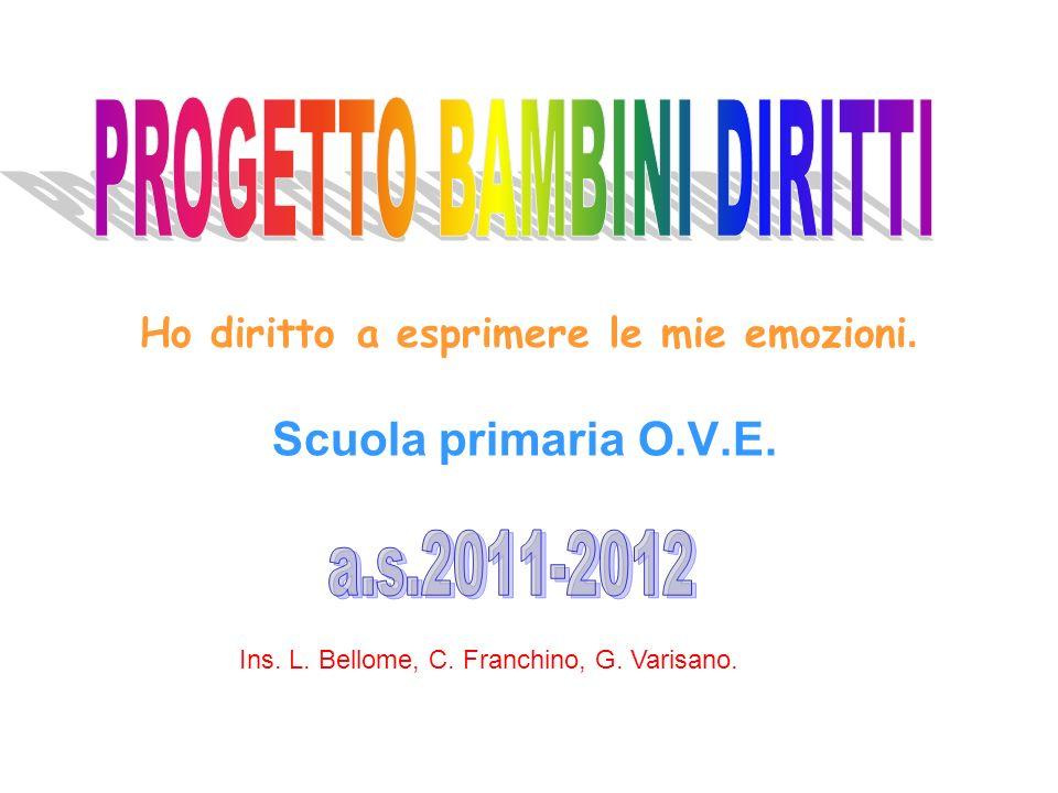Ho diritto a esprimere le mie emozioni. Scuola primaria O.V.E. Ins. L. Bellome, C. Franchino, G. Varisano.