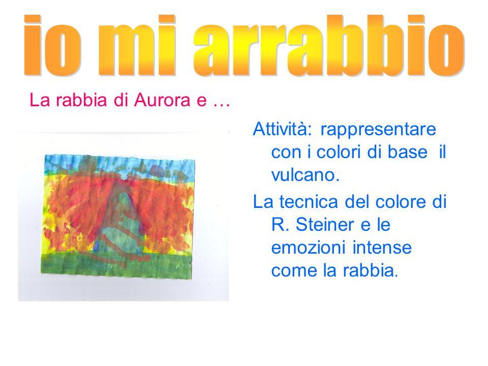 La rabbia di Aurora e … Attività: rappresentare con i colori di base il vulcano. La tecnica del colore di R. Steiner e le emozioni intense come la rab