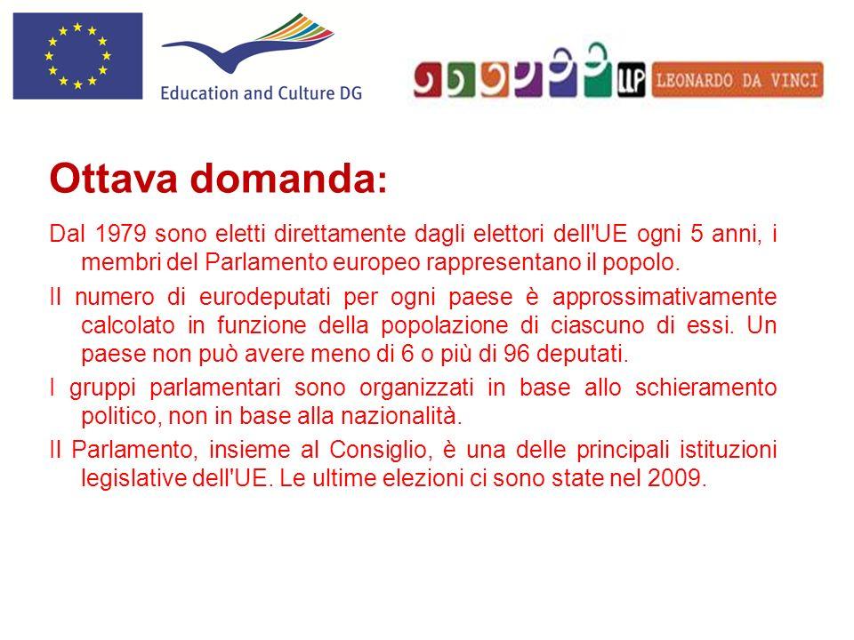 Dal 1979 sono eletti direttamente dagli elettori dell'UE ogni 5 anni, i membri del Parlamento europeo rappresentano il popolo. Il numero di eurodeputa