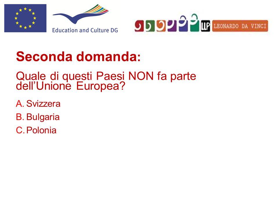 Tredicesima domanda: Perchè la bandiera dellUnione Europea ha 12 stelle.