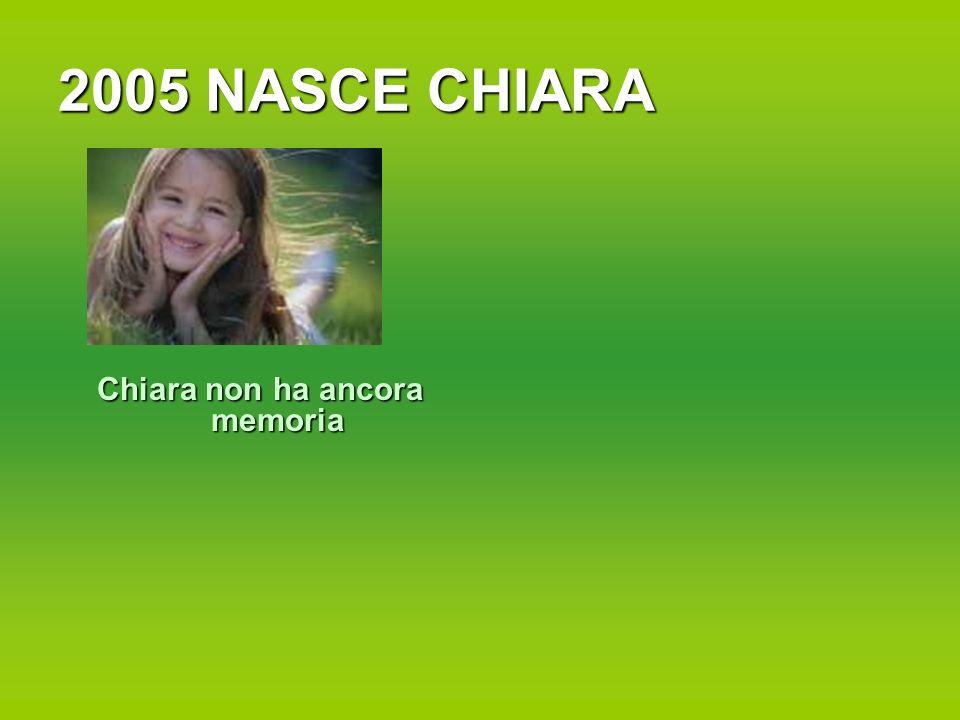 2005 NASCE CHIARA Chiara non ha ancora memoria