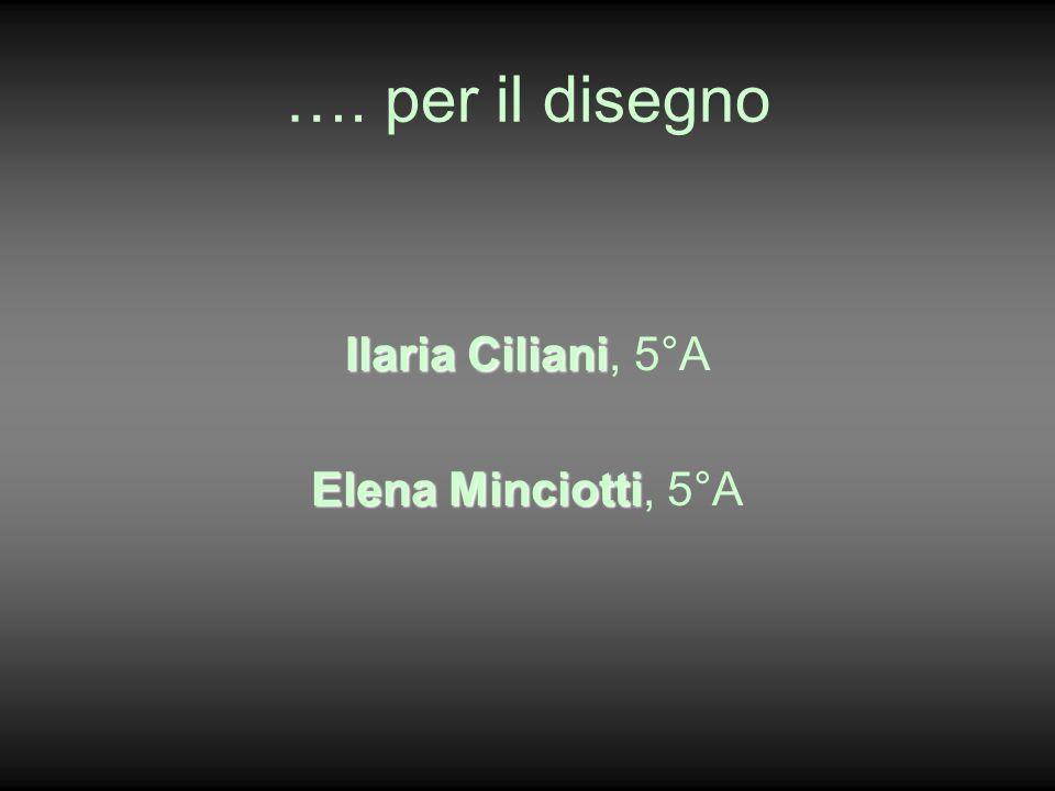 …. per il disegno Ilaria Ciliani Ilaria Ciliani, 5°A Elena Minciotti Elena Minciotti, 5°A
