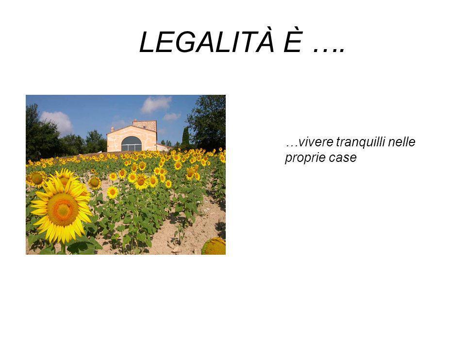 LEGALITÀ È …. … riconoscere e proteggere i diritti dei bambini, dei giovani, dei pensionati, dei disoccupati