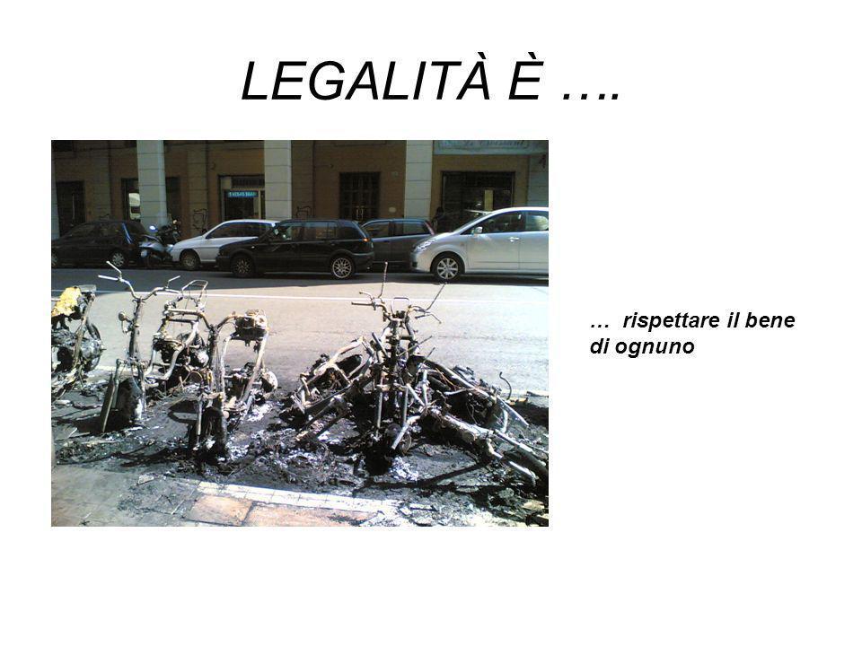 LEGALITÀ È …. … rispettare e tutelare il bene comune