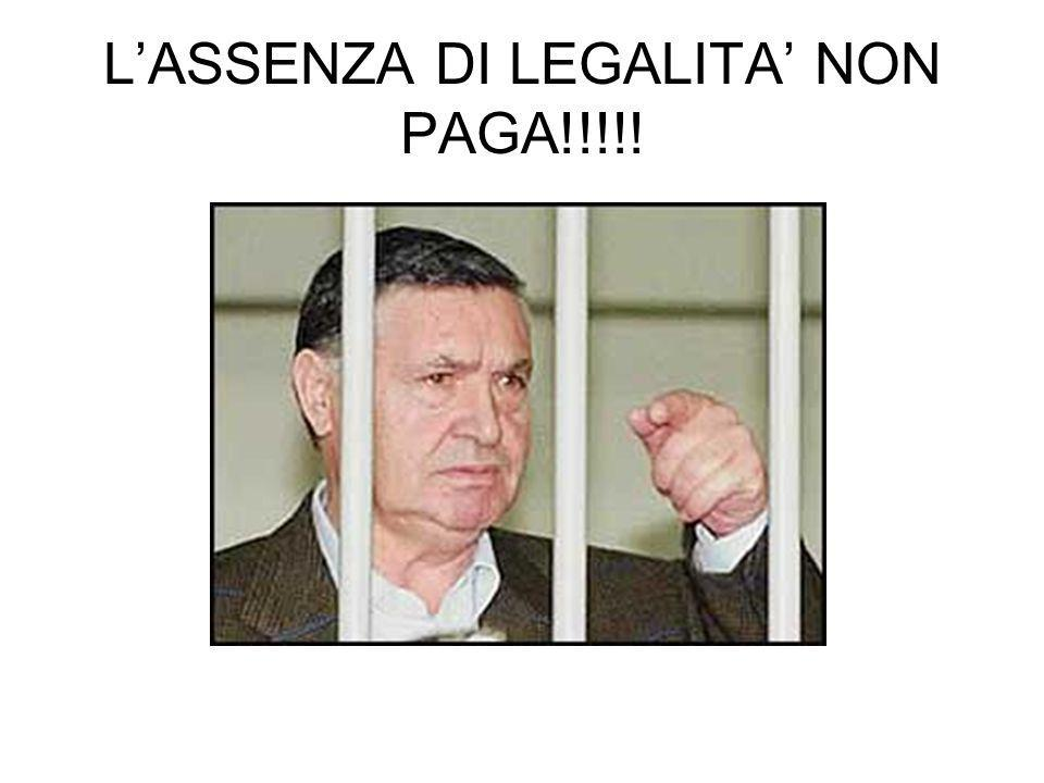 LASSENZA DI LEGALITA NON PAGA!!!!!