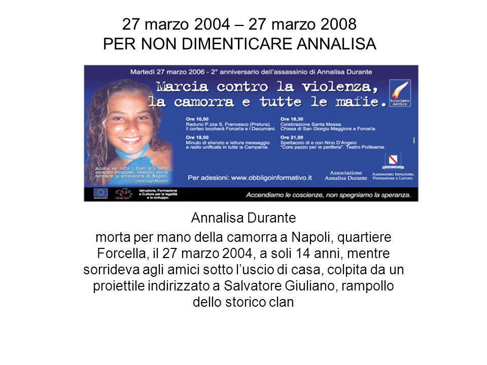 DEDICATO AD ANNALISA DURANTE