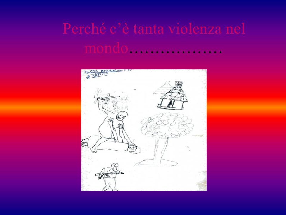 Perché cè tanta violenza nel mondo………………