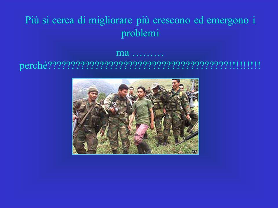 Più si cerca di migliorare più crescono ed emergono i problemi ma ……… perché !!!!!!!!!