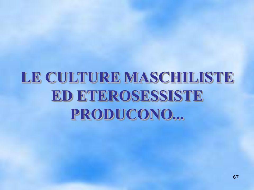 67 LE CULTURE MASCHILISTE ED ETEROSESSISTE PRODUCONO... LE CULTURE MASCHILISTE ED ETEROSESSISTE PRODUCONO...
