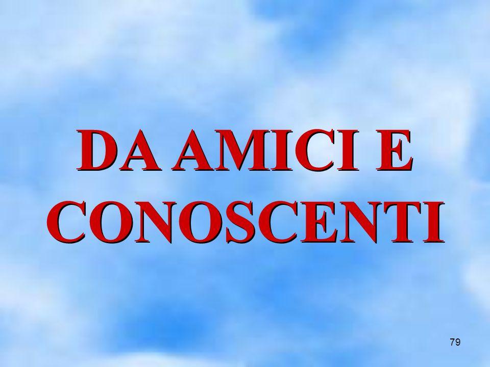 79 DA AMICI E CONOSCENTI