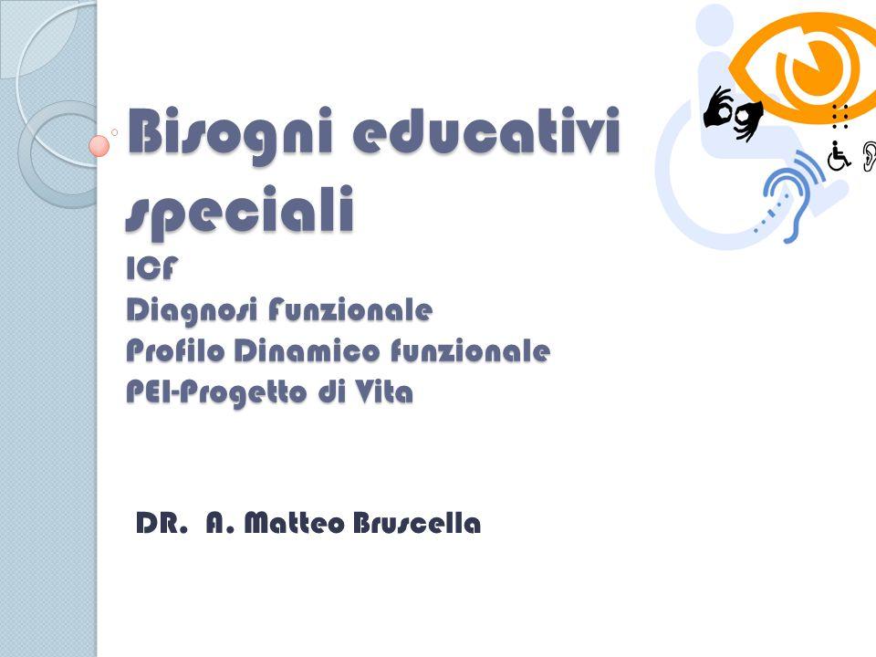 Bisogni educativi speciali ICF Diagnosi Funzionale Profilo Dinamico funzionale PEI-Progetto di Vita DR.