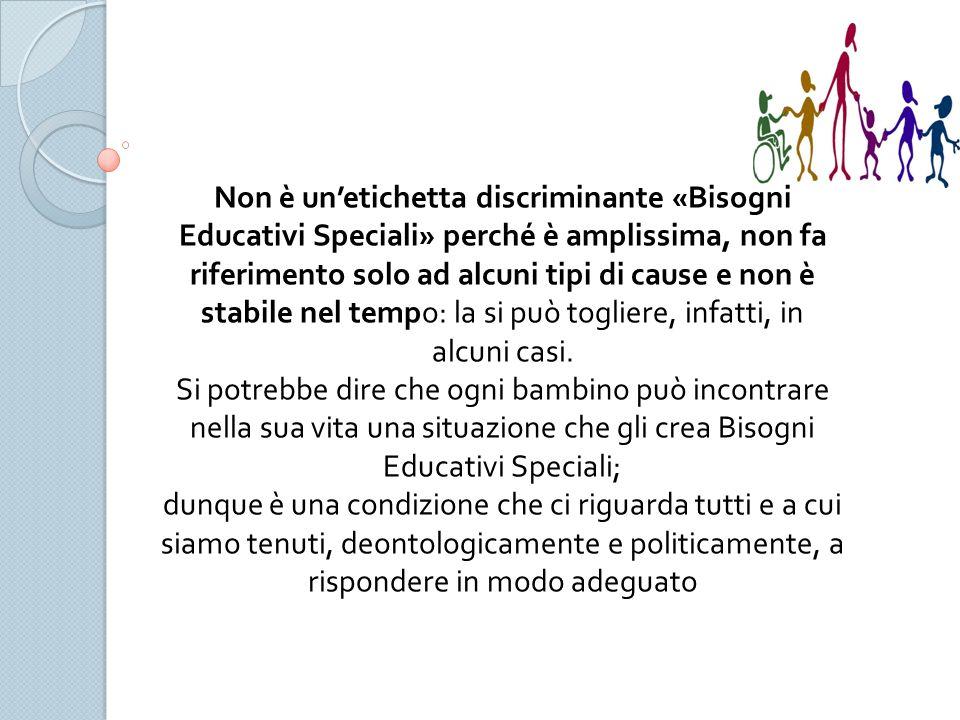 In questo senso il Bisogno Educativo diventa Speciale». Per lavorarci adeguatamente avremo dunque bisogno di competenze e risorse «speciali», migliori