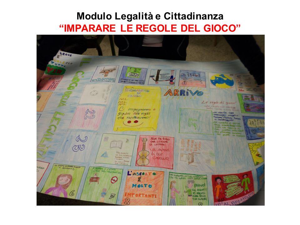 Modulo Legalità e Cittadinanza IMPARARE LE REGOLE DEL GIOCO