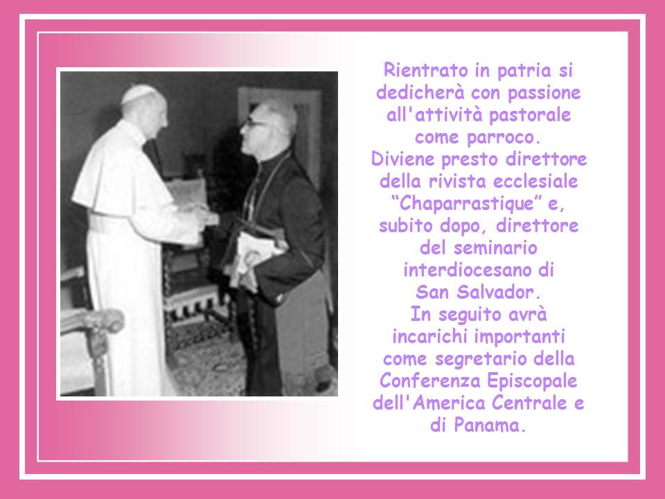 Rientrato in patria si dedicherà con passione all attività pastorale come parroco.