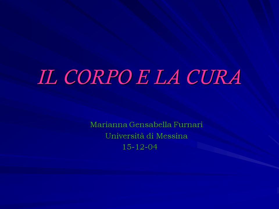 IL CORPO E LA CURA Marianna Gensabella Furnari Università di Messina 15-12-04