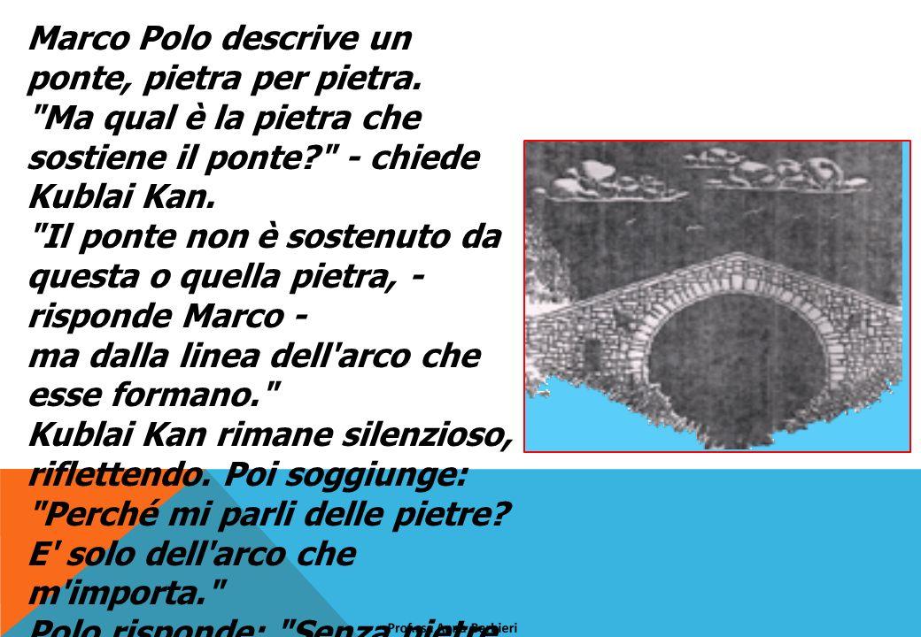 Marco Polo descrive un ponte, pietra per pietra.